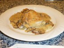 Bacalao mit Pilzen in Sahnesauce - Rezept