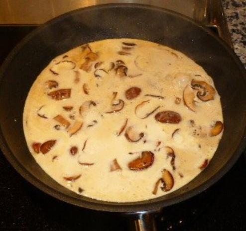 Bacalao mit Pilzen in Sahnesauce - Rezept - Bild Nr. 4