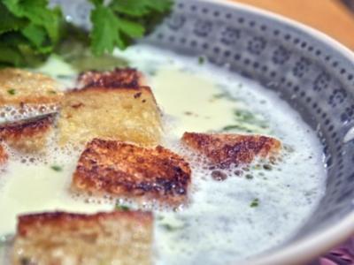Knoblauchsuppe mit Croutons - Rezept