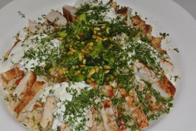 Orientalischer kuskus salat