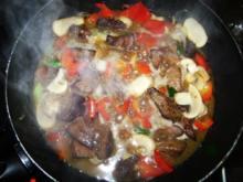 Leberragout mit Gemüse - Rezept