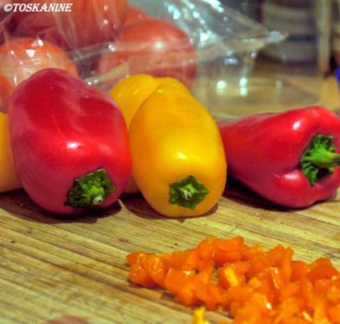 Winterlich-fruchtiger Linsensalat mit Fetapäckchen - Rezept - Bild Nr. 5
