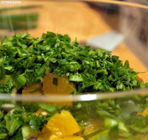 Winterlich-fruchtiger Linsensalat mit Fetapäckchen - Rezept - Bild Nr. 10