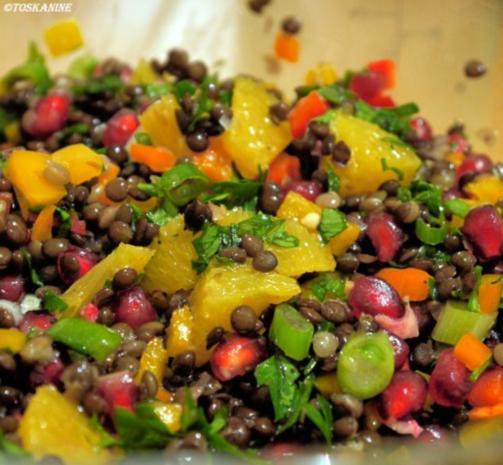 Winterlich-fruchtiger Linsensalat mit Fetapäckchen - Rezept - Bild Nr. 16