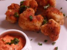 Gemüse: Knusprig gebratener Blumenkohl & dazu ein fruchtig-pikanter Paprika-Dip - Rezept