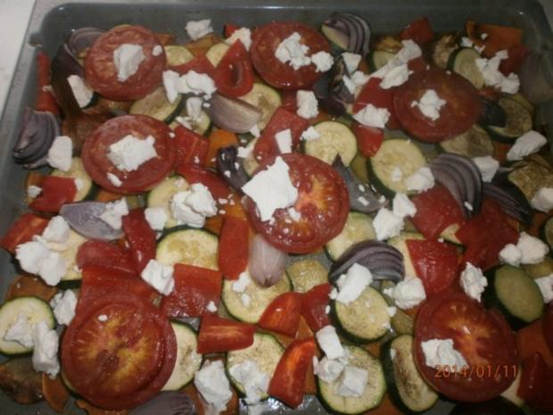 Ofengemüse mit Rote-Bete-Soße und grünem Chilliöl - Rezept - Bild Nr. 5