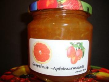 Rezept: Grapefruit-Apfel Marmelade