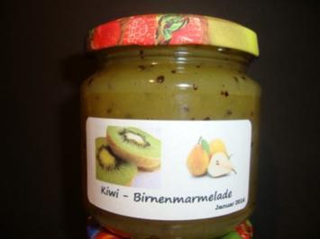 "Rezept: Kiwi - Birnen Marmelade mit ""Hicks"""