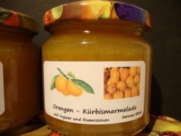 Rezept: Sweety - Kürbis Marmelade mit Ingwer und Scotch Rosinen