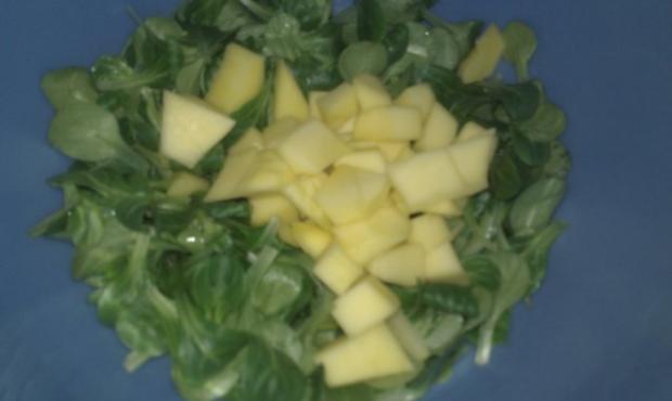 Feldsalat mit Mango, Avocado und Garnelen - Rezept - Bild Nr. 2