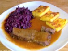 Rinderschmorbraten in Glühwein-Soße - Rezept