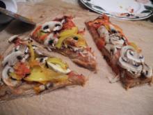 Vegan : Eine Gemüsepizza - Rezept