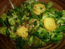 Vogerlsalat mit Kartoffeln - Rezept
