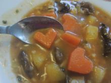 Pilzsuppe mit Herz - Rezept