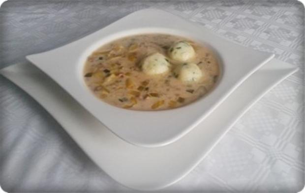 ※ Käse-Lauch-Hack Suppe mit Ricotta-Petersilie Klößchen ※ - Rezept - Bild Nr. 24