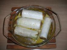 Fleisch: Lammhack in Lauchröllchen mit orientalischen Gewürzen - Rezept