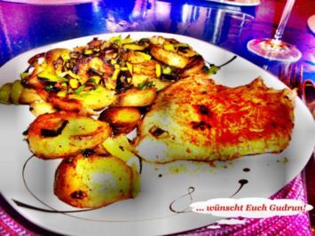 Geflügel: Pikantes Schnitzel mit Bratkartoffeln - Rezept