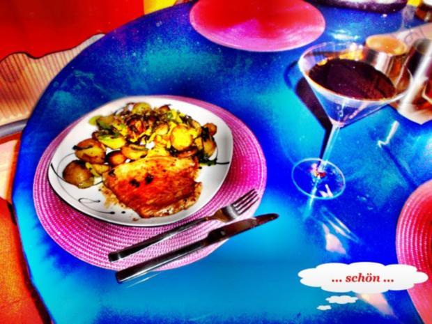 Geflügel: Pikantes Schnitzel mit Bratkartoffeln - Rezept - Bild Nr. 10