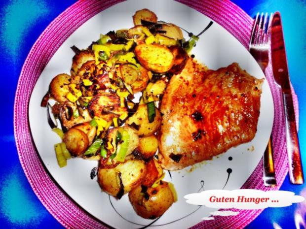 Geflügel: Pikantes Schnitzel mit Bratkartoffeln - Rezept - Bild Nr. 11