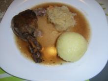 Ente an Sauerkraut mit Thüringer Klößen - Rezept