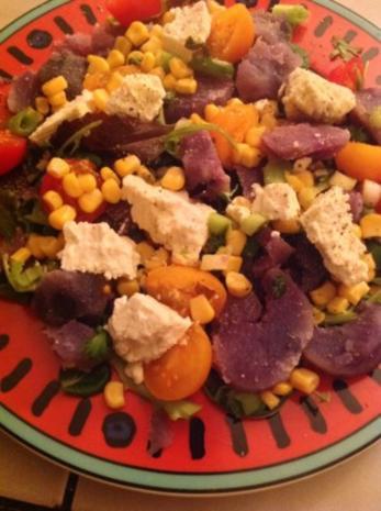 Blauer Kartoffelsalat - Rezept