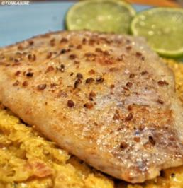 Kabeljau-Filet auf Curry-Spitzkohl - Rezept