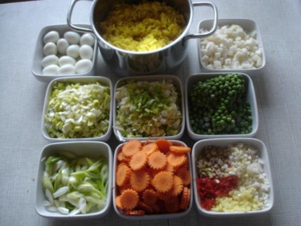 Gemüsereis mit Wachteleier und Hackbällchen - Rezept - Bild Nr. 11