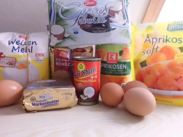 Kuchen: Steuselkuchen-Tarte mit Aprikosen und Kokos - Rezept - Bild Nr. 2