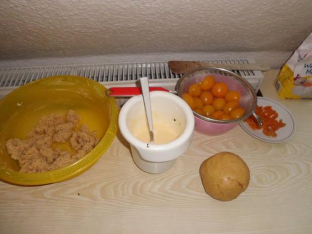 Kuchen: Steuselkuchen-Tarte mit Aprikosen und Kokos - Rezept - Bild Nr. 3