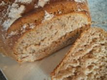 Brot/Brötchen: Mischbrot mit Schmand und Weizenkleie - Rezept