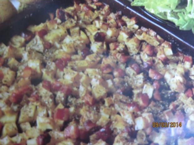Blechkartoffeln mit Schinkenspeck - Rezept