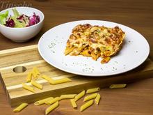Penne-Auflauf  mit Zucchini, Feta und Putenfilet - Rezept - Bild Nr. 5235
