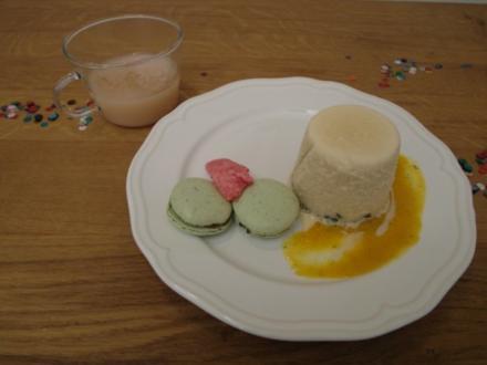 Kulfi mit Pistazien-Amaretto-Macaron - Rezept