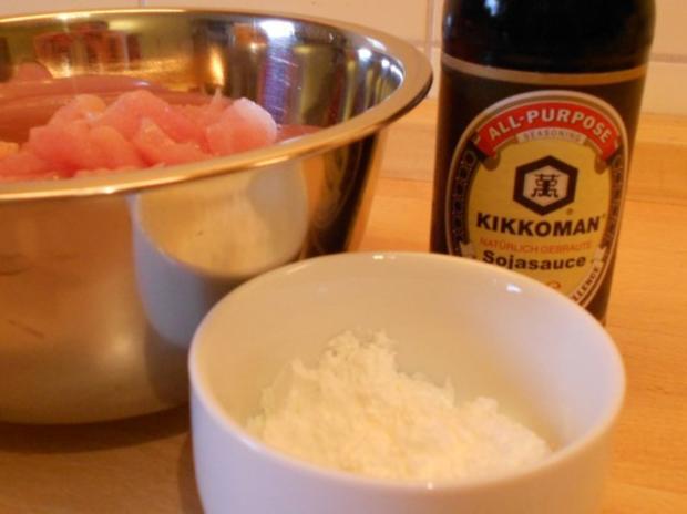 Gebratener Reis mit Hähnchenfleisch und Gemüse - Rezept - Bild Nr. 3