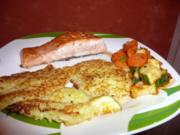 Kartoffelpuffer, Mischgemüse + Lachsfilet - Rezept