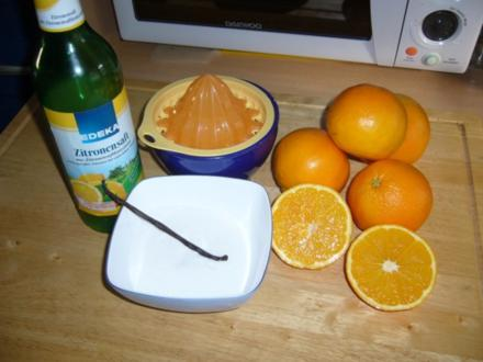 Orangen Sirup mit Vanille - Rezept