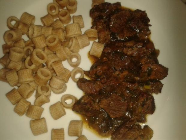 Geschnetzeltes Majoranrindfleisch - Rezept
