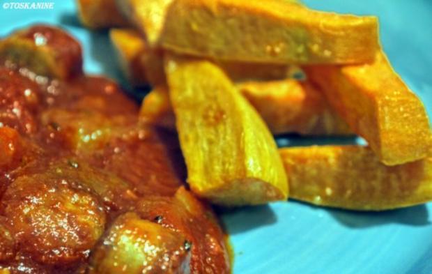 Mango-Currywurst mit Süßkartoffel-Pommes - Rezept - Bild Nr. 11