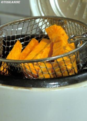 Mango-Currywurst mit Süßkartoffel-Pommes - Rezept - Bild Nr. 9