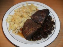 Fleisch: Rinderbäckchen mit Sauerkirschen - Rezept