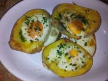 Versteckte Eier in Kartoffeln - Rezept
