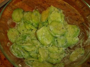 Schneller Gurkensalat - Rezept