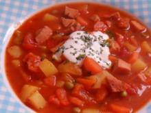 Deftiges Kartoffel-Wurst-Gulasch - Rezept