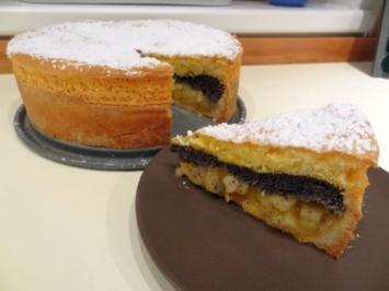 Apfel-Mohn-Torte - Rezept