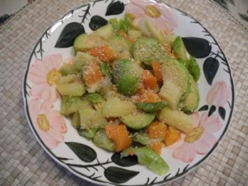Vegan : Eine bunte Gemüsepfanne - Rezept