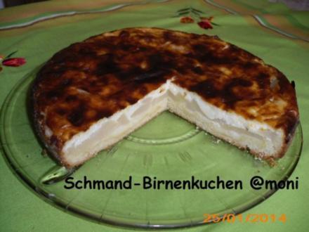Schmand-Birnenkuchen - Rezept