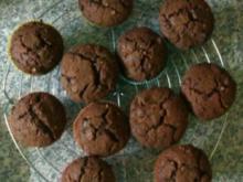 Kakao-Haselnuss Muffins mit Nougat - Rezept