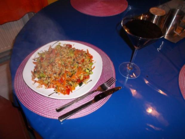 Vegetarisch: Pikante Reis-Gemüsepfanne - Rezept - kochbar.de