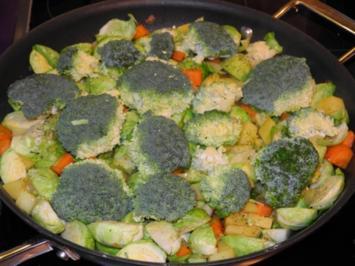 Vegan : Bunte Pfanne mit viel Gemüse zum satt werden .... - Rezept