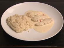 Pouletbrüstchen Rimientos mit Weißweinrisotto (Denise Biellmann) - Rezept